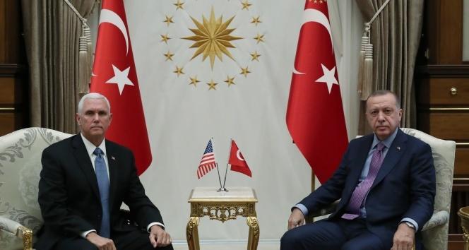 Cumhurbaşkanı Erdoğan Pence görüşmesi başladı