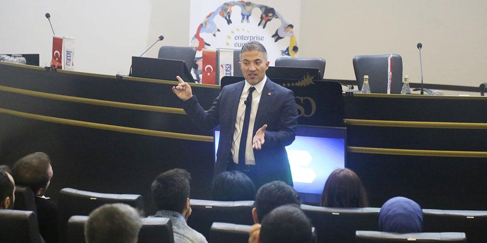 """KMTSO'da """"İnovasyon ve motivasyon"""" anlatıldı"""