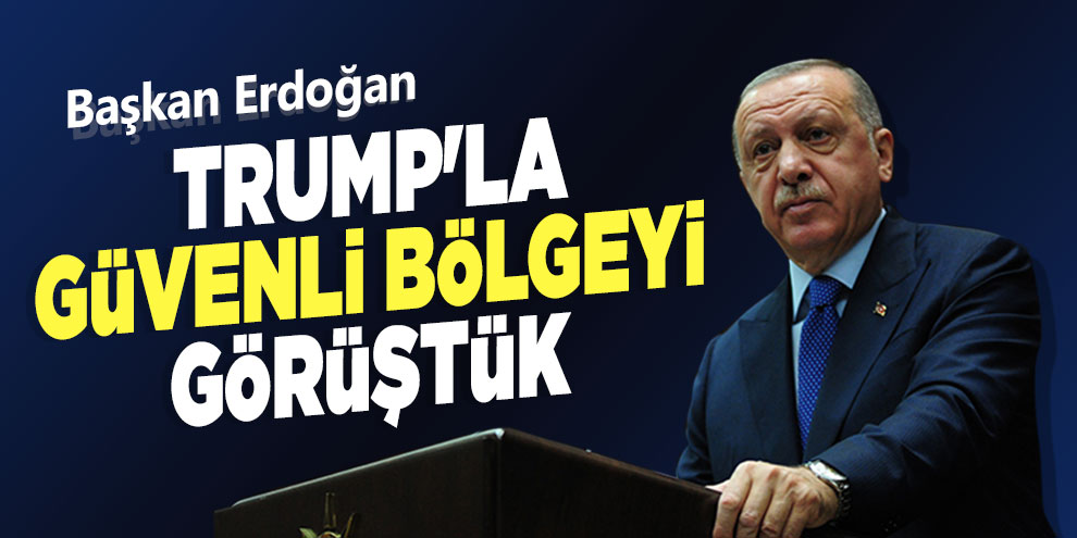 "Başkan Erdoğan, ""Trump'la güvenli bölgeyi görüştük"""