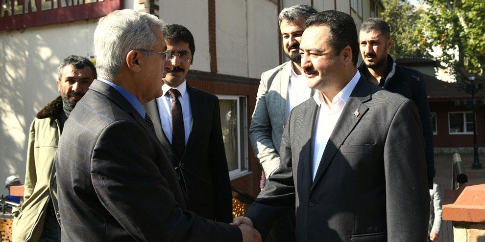 Rektör Can'dan Başkan Gürbüz'e ziyaret