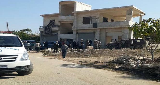 Çobanbey'de bomba yüklü motosiklet patladı