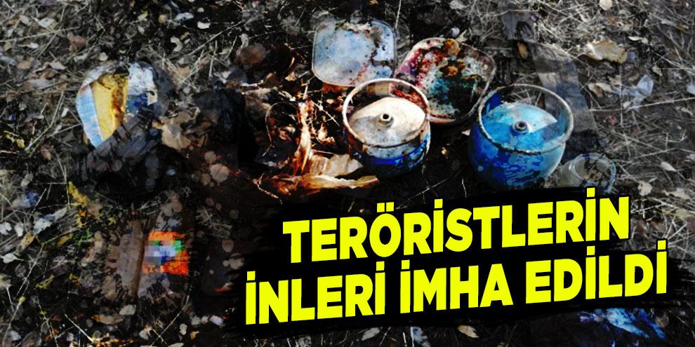 Teröristlerin inleri imha edildi
