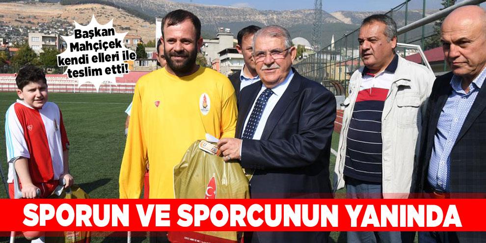Başkan Mahçiçek, sporun ve sporcunun yanında