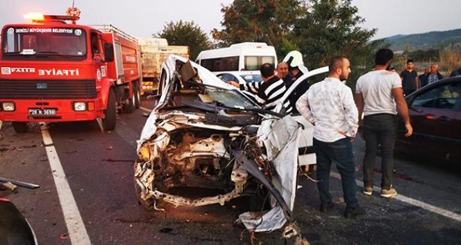 Takla atan otomobil dehşet saçtı: 1 ölü, 2 yaralı