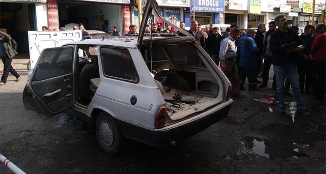 Otomobildeki LPG tankı patladı: 3 yaralı