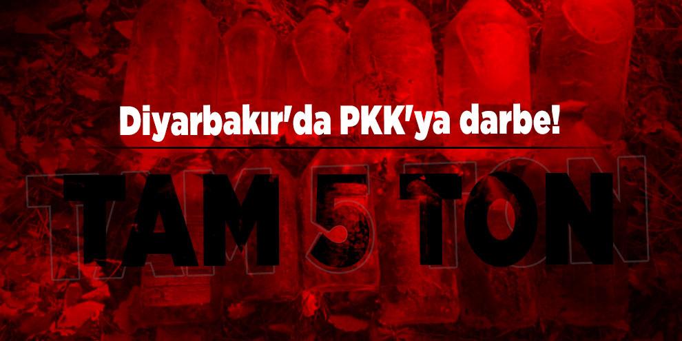 Diyarbakır'da PKK'ya darbe! Tam 5 ton