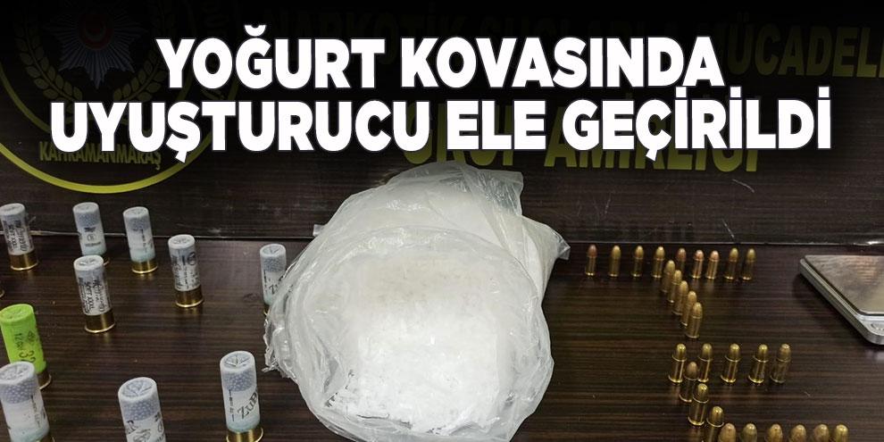 Yoğurt kovasında uyuşturucu ele geçirildi