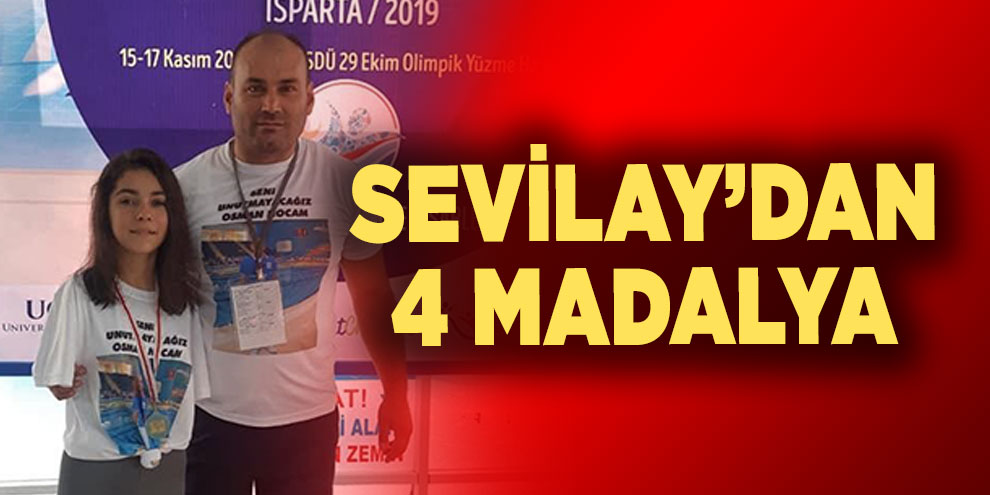 Sevilay'dan 4 madalya