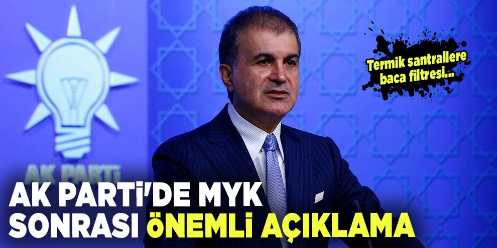 AK Parti'de MYK sonrası önemli açıklama