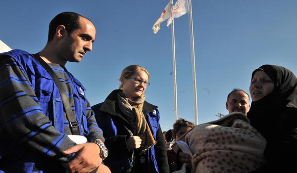 DSÖ, UNICEF VE FAO TEMSİLCİLERİ ÇADIR KENTTE