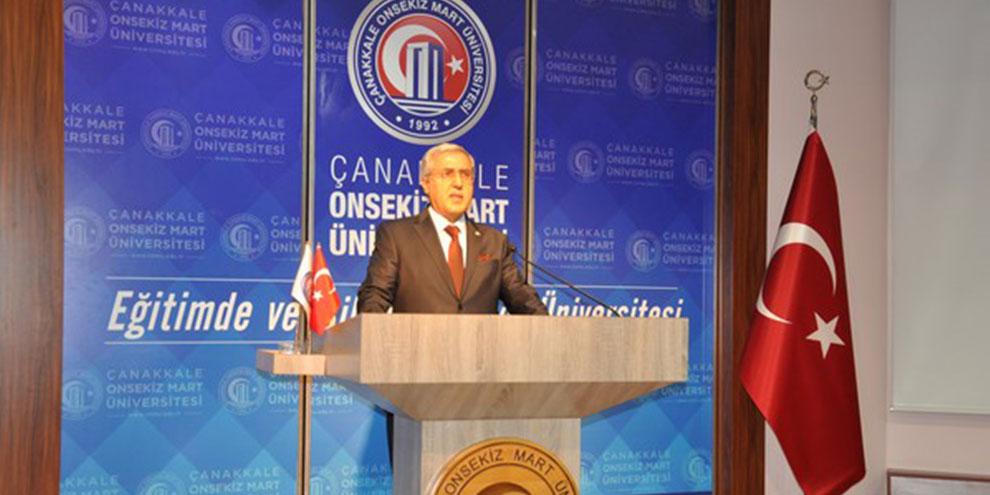 Rektör Can, Çanakkale'de gerçekleştirilen III. Uluslararası Farkındalık Kongresi'ne katıldı