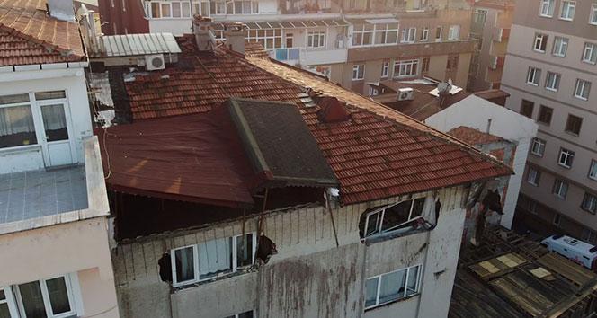 Şişli'de 6 katlı binanın çatı katında çökme: 3 yaralı