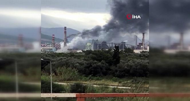 Demir çelik fabrikasında patlama! Yaralı işçiler var