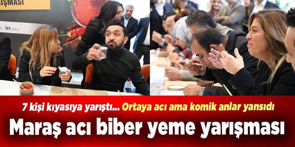Kahramanmaraş'ta biber yeme yarışması