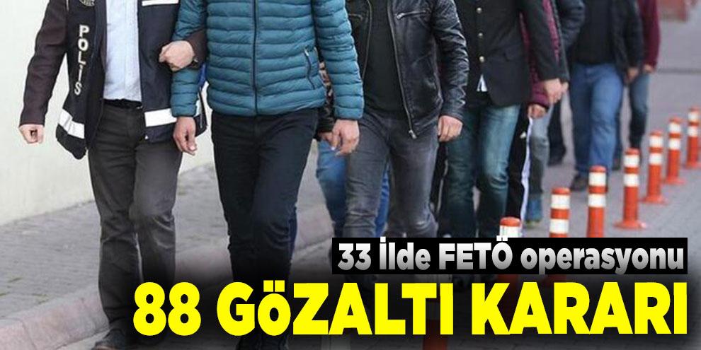 İzmir merkezli FETÖ operasyonu: 88 gözaltı kararı