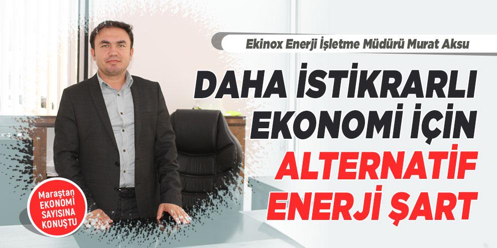 Daha istikrarlı ekonomi için alternatif enerji şart