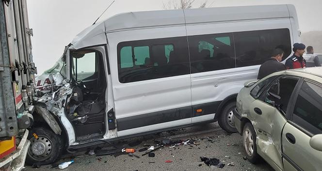 Amasya'da zincirleme trafik kazası: 7 yaralı