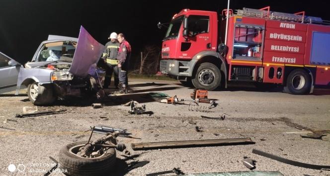 Köşk'te iki araç kafa kafaya çarpıştı: 1 ölü, 2 yaralı