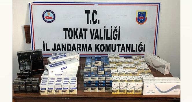 Valizlere zulalanmış halde 380 paket sigara ele geçirildi