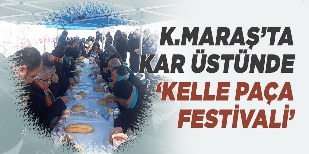 Kahramanmaraş'ta kar üstünde 'Kelle Paça Festivali'