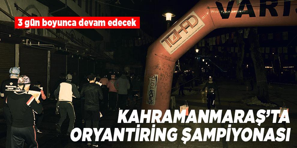 Kahramanmaraş'ta oryantiring şampiyonası