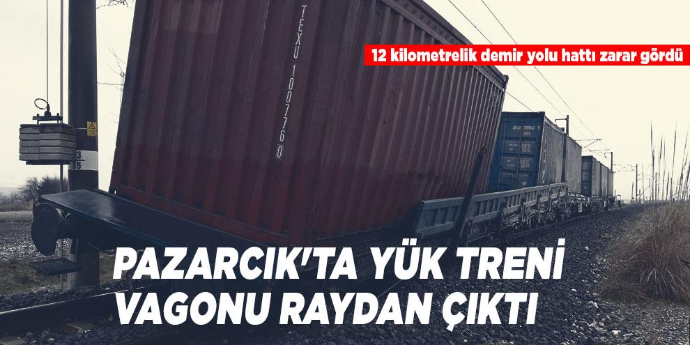 Pazarcık'ta yük treni vagonu raydan çıktı