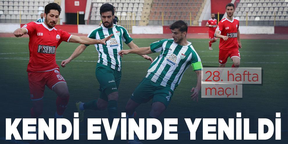 Kahramanmaraşspor kendi sahasında mağlup oldu!