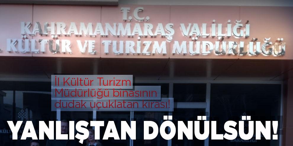 İl Kültür Turizm Müdürlüğü binasının dudak uçuklatan kirası!