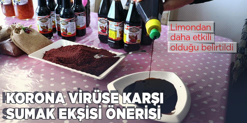 Korona virüse karşı sumak ekşisi önerisi