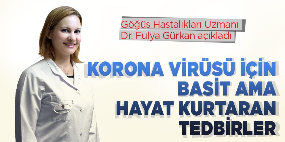 Korona virüsü için basit ama hayat kurtaran tedbirler