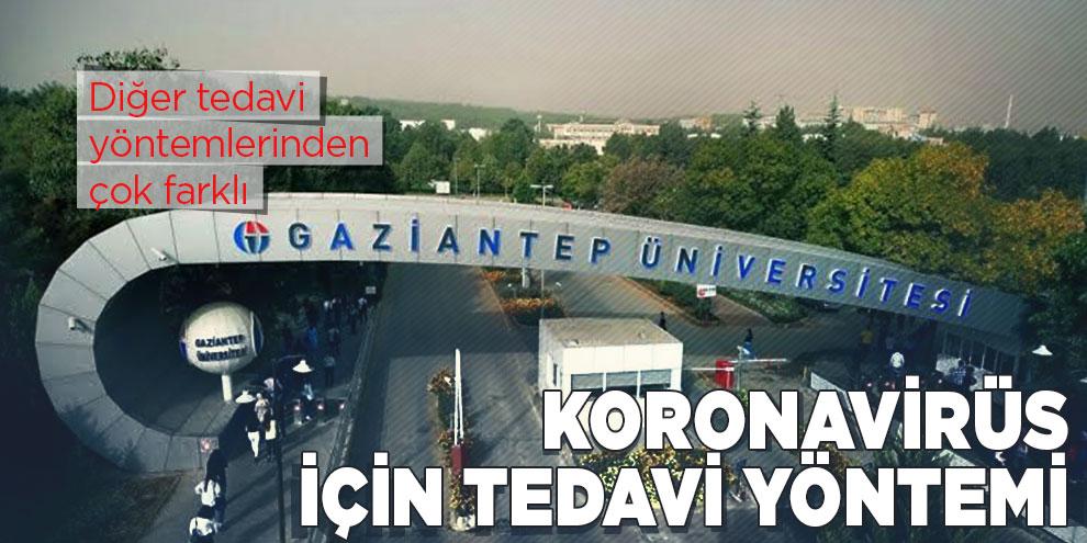 Gaziantep Üniversitesi'nden koronavirüs için tedavi yöntemi
