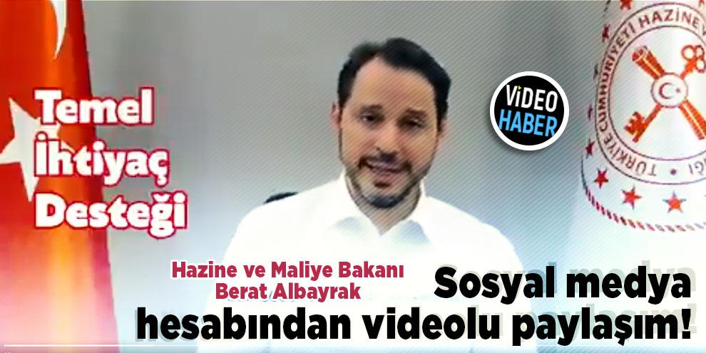 Bakan Albayrak sosyal medya hesabından videolu paylaşım yaptı