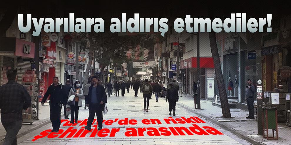 Uyarılara aldırış etmediler! Üstelik Türkiye'de en riskli şehirler arasında