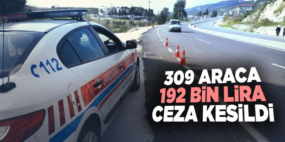 Radara yakalanan 309 araca 192 bin lira ceza kesildi
