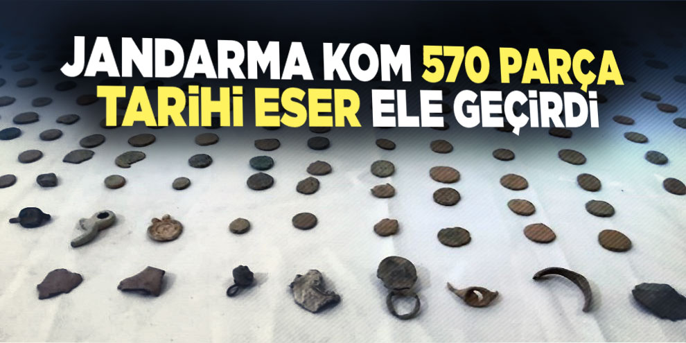 Jandarma KOM 570 parça tarihi eser ele geçirdi