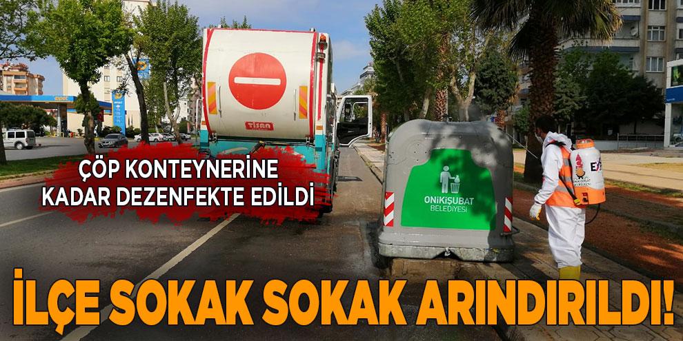 Onikişubat Belediyesi çöp konteynerlerine kadar dezenfekte ediyor