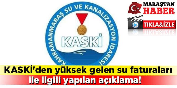 Kaski'den yüksek gelen su faturaları ile ilgili videolu açıklama!