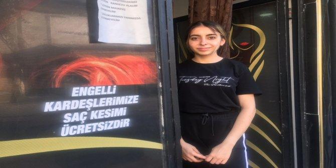 Kahramanmaraş'ta kuaförden engellilere ücretsiz hizmet