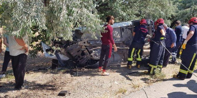 Kahramanmaraş'ta canlı yayına girdikten saniyeler sonra feci kaza