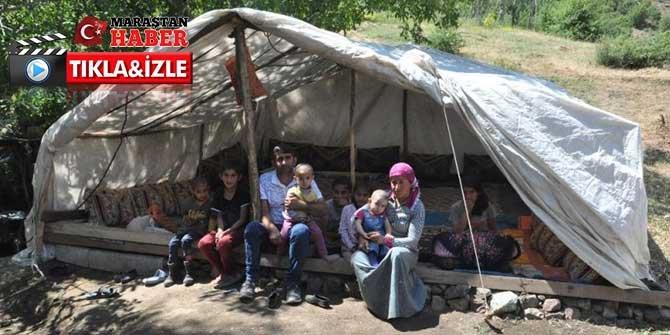 11 kişilik ailenin çadırdaki yaşam mücadelesi