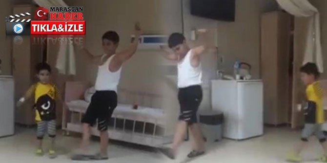 Koronavirüsü yenen iki kardeşten zeybekli kutlama