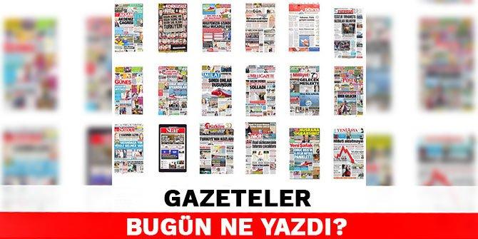 Gazeteler bugün ne yazdı? 13 Ağustos Gazete Manşetleri