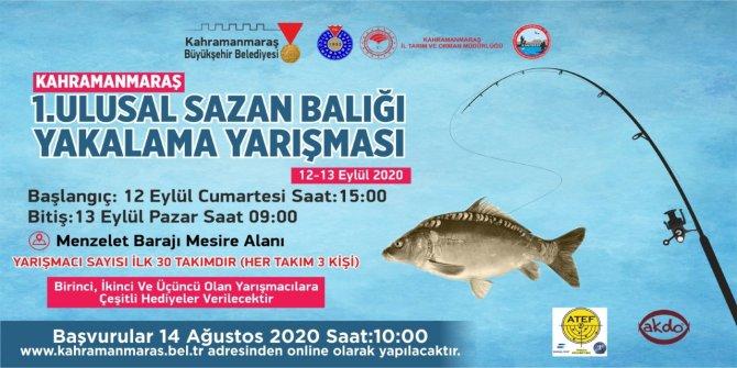 1. Ulusal Sazan Balığı Yakalama Yarışması Yapılacak!