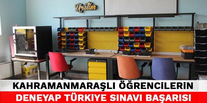 Kahramanmaraşlı öğrencilerin Deneyap Türkiye Sınavı başarısı