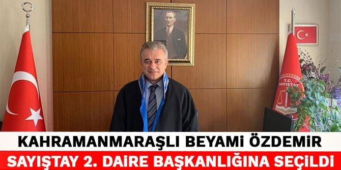 Kahramanmaraşlı Beyami Özdemir Sayıştay 2. Daire Başkanlığına Seçildi