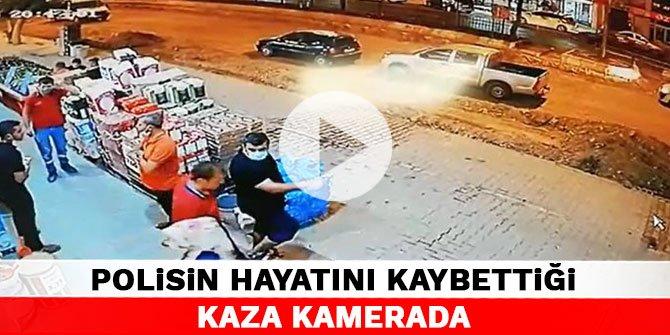 Kahramanmaraş'ta polisin hayatını kaybettiği kaza kamerada
