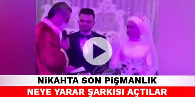 Kahramanmaraş'taki nikahta son pişmanlık neye yarar şarkısı açtılar