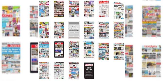 Gazeteler bugün ne yazdı? 21 Eylül Gazete Manşetleri