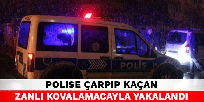 Kahramanmaraş'ta polise çarpıp kaçan zanlı kovalamacayla yakalandı