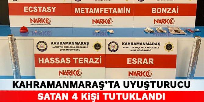 Kahramanmaraş'ta uyuşturucu satan 4 kişi tutuklandı